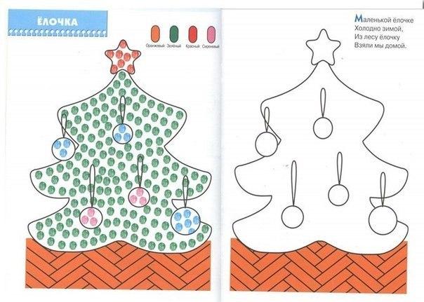 Раскраска пальчиками для малышей как рисовать